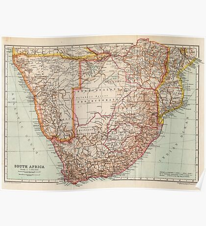 South Africa Antique Maps Poster