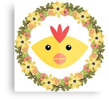 Chicken&Wreath Canvas Print