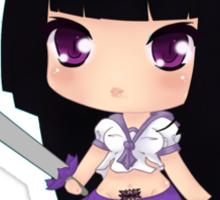 Chibi Samurai Schoolgirl Sticker