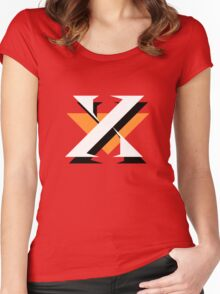 Mr. X (Dr. Wily) Logo Women's Fitted Scoop T-Shirt