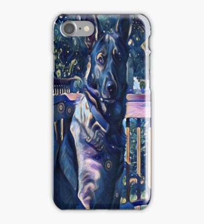 Blue Midnight Shepherd iPhone Case/Skin