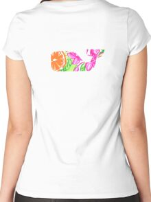 Preppy Whale  Women's Fitted Scoop T-Shirt