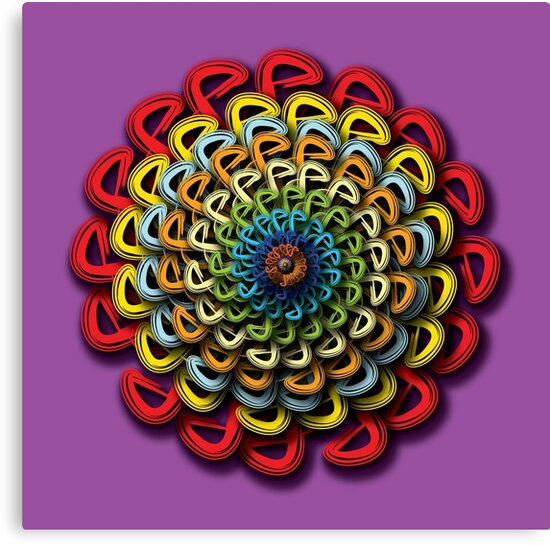 Infinite Path Martial Arts Mandala 4 by Robyn Scafone
