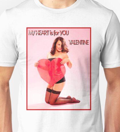 VALENTINE PIN UP HEART; Beautiful Print Unisex T-Shirt