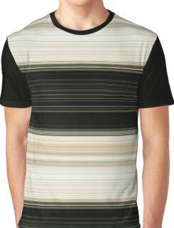 Black and Cream Stripes Graphic T-Shirt