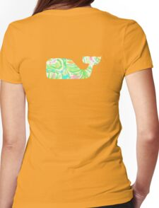 Preppy Whale Womens Fitted T-Shirt