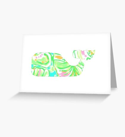 Preppy Whale Greeting Card