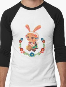 The Polish Bunny Men's Baseball ¾ T-Shirt