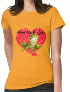 Give me a kiss Womens Fitted T-Shirt