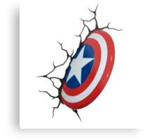 captain america shield Metal Print