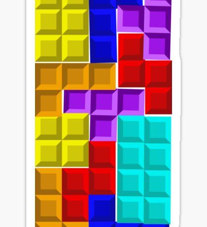 Mur Tetris Sticker