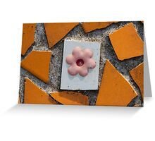 background with tiles Greeting Card