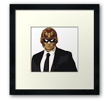 Captain Falcon in Formal Attire Framed Print