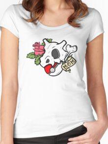 "Cubone ""Mom"" Tattoo  Women's Fitted Scoop T-Shirt"