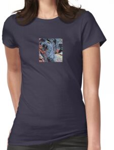 Resting Catahoula Dog Womens Fitted T-Shirt