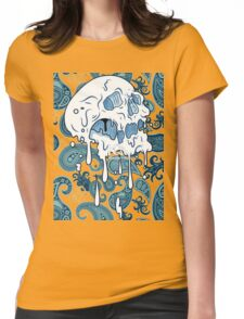 Skull paisley Womens Fitted T-Shirt