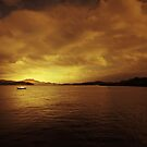 AS THE SUN GOES DOWN ON LOCH LOMOND by leonie7