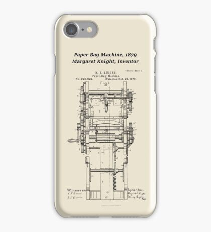 Margaret Knight, Inventor of the Paper Bag Machine iPhone Case/Skin