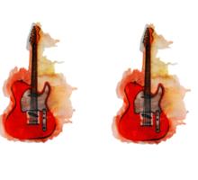 watercolor guitars Sticker