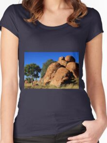 Devil's Marbles, Outback Australia Women's Fitted Scoop T-Shirt