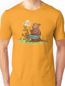Russian bear drink a tea Unisex T-Shirt