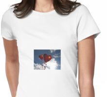 Balloon hearts  Womens Fitted T-Shirt