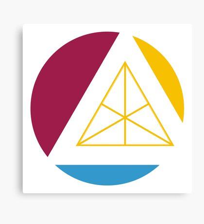 tertiary geometric colors Canvas Print