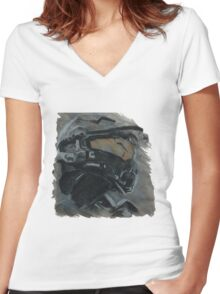 Masterchief Women's Fitted V-Neck T-Shirt