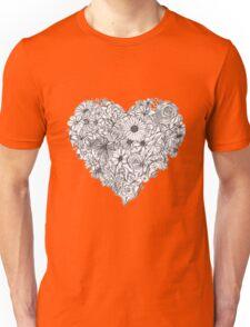 Heart Made of Flowers Unisex T-Shirt