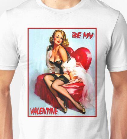VALENTINE PIN UP; Vintage Art Print Unisex T-Shirt