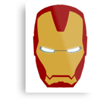 Iron Man Helmet Metal Print