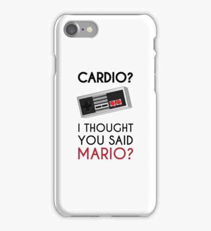 Cardio or Mario? iPhone Case/Skin