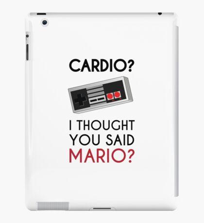 Cardio or Mario? iPad Case/Skin