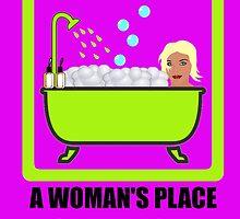 A Woman's Place Is In The Foam by DolceandBanana