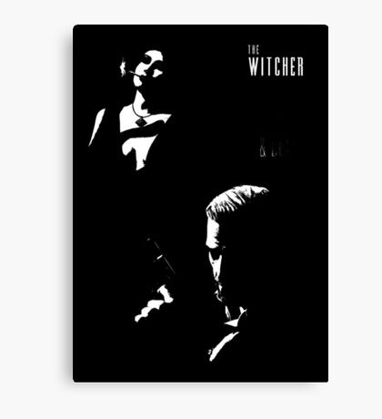 The Witcher Noir Canvas Print