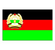 Old Afghanistan Flag Photographic Print