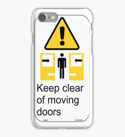 Sydney Trains Sticker - Keep Clear Moving Doors iPhone Case/Skin