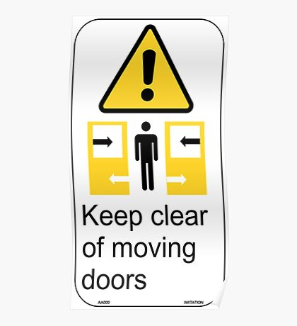 Sydney Trains Sticker - Keep Clear Moving Doors Poster