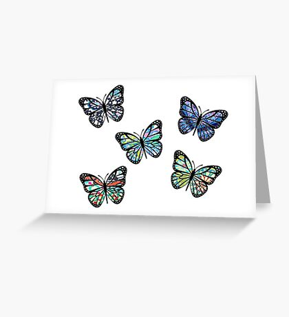 Cute Patterned, Flying Butterflies Pack of 5 Greeting Card
