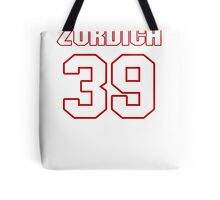 NFL Player Michael Zordich thirtynine 39 Tote Bag