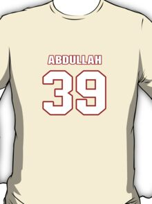 NFL Player Husain Abdullah thirtynine 39 T-Shirt