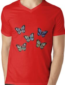 Cute Patterned, Flying Butterflies Pack of 5 Mens V-Neck T-Shirt