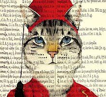 Original Greek Cat Art Print by timelessfancy
