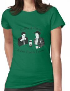 Twin Peaks - Sheriff Harry and Agent Cooper Womens Fitted T-Shirt
