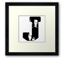 J is for Jayne Framed Print