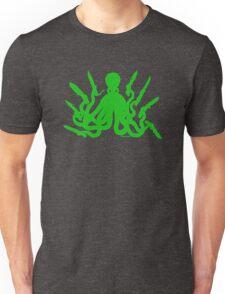 Octopus 8 Knives in GREEN Unisex T-Shirt
