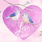 Lovebirds for Valentine's Day, or any day by Anita Pollak