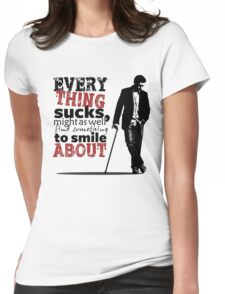 Everything sucks Womens Fitted T-Shirt
