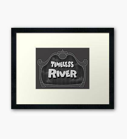 Timeless river Framed Print