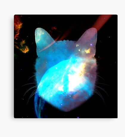I hope there's mice in space Canvas Print
